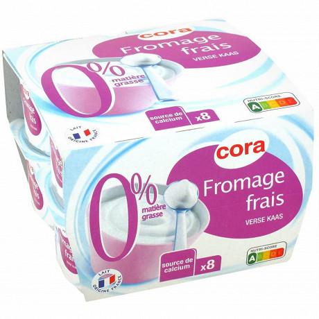 Cora fromage frais 0% 8x100g