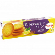 Cora tuiles saveur citron 85g