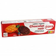 Cora kido sablés nappés chocolat noir 200g