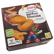 Cora kido goûters fourrés ronds fourrés chocolat pocket 440g
