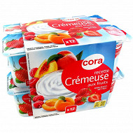 Cora spécialité laitière crémeuse aux fruits 3.4%mg 12 x 125g