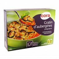 Cora gratin d'aubergines prégratiné 450g
