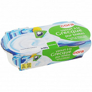 Cora yaourt nature au lait de brebis à la grecque 2x150 g