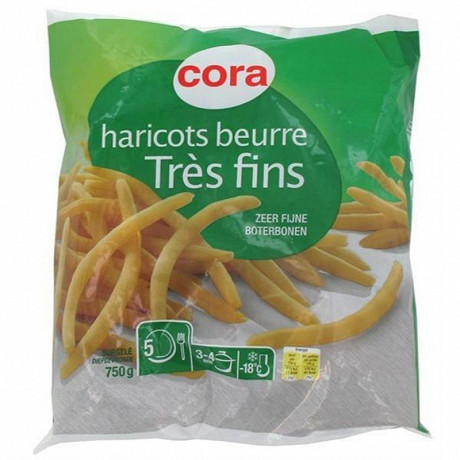 Cora haricots beurre très fins 750g