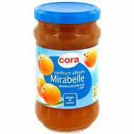 Cora confiture allégée de mirabelle 335g