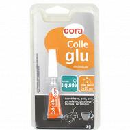 Cora colle glu cyanoacrylate tube liquide 3 grammes