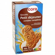 Cora biscuits petit déjeuner céréales complètes 400g