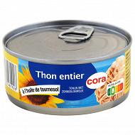 Cora thon à l'huile de tournesol 160 g