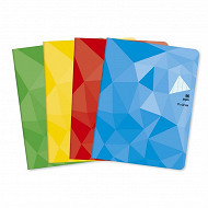 Cora cahier piqûre (agrafe) 17 x 22 cm 96 pages seyes grands carreaux 90g couverture vernie