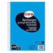 Cora recharge protège documents à anneaux 21 x 29.7 cm 10 pochettes cristal
