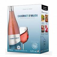 L'âme du terroir Cabernet d'Anjou rosé poche 3 litres 11,5% Vol.
