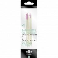 Elite bâtonnets cuticules bois x8