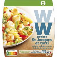WW petites St Jacques et torti, crème safranée aux légumes 300g