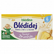 Blédina blédidèj brique de lait et céréales saveur briochée 4x250ml dès 6 mois