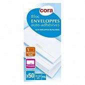 Cora 50 enveloppes précasées auto-adhésives 110x220