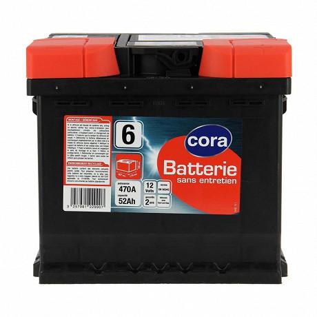 Cora batterie de démarrage 52AH 470A N°6