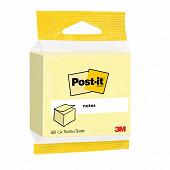 Post-it cube notes repositionnables 450 feuilles jaune 7.6x7.6 cm