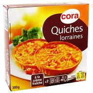 Cora 2 quiches lorraines 300g