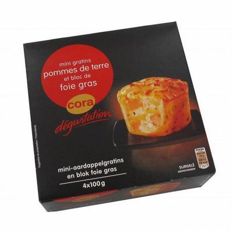Cora dégustation 4 mini gratins de pomme de terre foie gras 400g