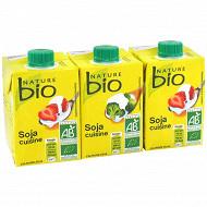 Nature bio soja cuisine bio 3x20cl