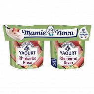 Mamie Nova gourmand yaourt rhubarbe 2x150g