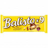 Balisto barre chocolat miel amandes x9 166,5g