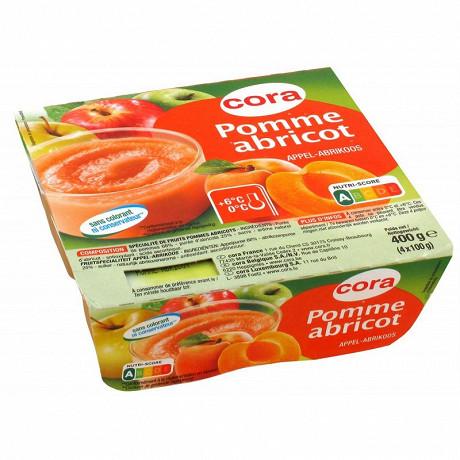 Cora spécialité de fruits de pommes et d'abricots 4x100g