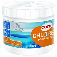 Chlore en pastille de 5g pour piscinette 500g