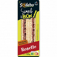 Sodebo simple et bon sandwich complet rosette 125g
