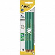 Bic 10 crayons graphite écolution évolution hb