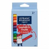 Lefranc & bourgeois boîte de 12 pastels à l'huile