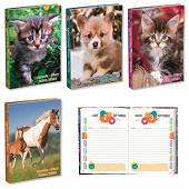 Agenda scolaire 120x170 384p animaux domestiques