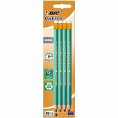 Bic 8 crayons graphite écolution évolution bout gomme