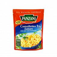 Panzani coquillettes nature avec noix de beurre express 200g