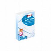 Cora bloc de 50 enveloppes précasées auto adhésives 114x162