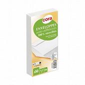 Cora 50 enveloppes auto adhésives 110X220