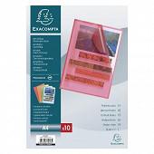 Exacompta - 10 pochettes coins couleurs assorties 21x29.7 cm 110 microns
