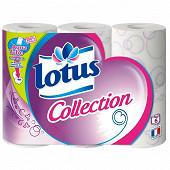 Papier toilette Lotus Collection 6 rouleaux aquatube