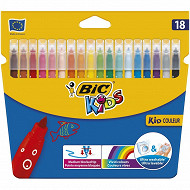 Bic kids kid 18 feutres couleur étui carton