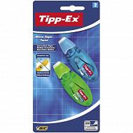 Bic tipp-ex 2 rubans correcteur micro tape twist