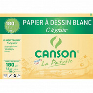 Canson - Pochette c à grain 10 feuilles blanc a3 180 grammes