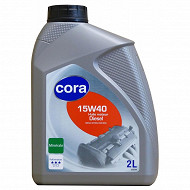 Cora huile moteur voiture multigrade 15W40 2 litres