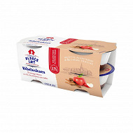Alsace Lait bibeleskaes fromage blanc pomme cannelle 6.3%mg 4x125g