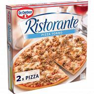 Dr Oetker 2 pizzas ristorante tonno - surgelée au thon 710g