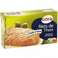Cora filets de thon à l'huile d'olive 81g