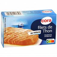 Cora filets de thon au naturel 81 g