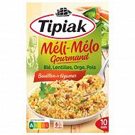 Tipiak méli-mélo gourmand céréeales légumes secs 330g