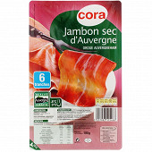 Cora jambon sec auvergne 6 tranches 100g