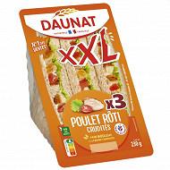 Daunat Sandwich club XXL poulet rôti crudités 230g