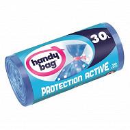 Handy bag sacs poubelle x20 protection active a liens 30l